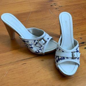 Burberry wooden summer heel